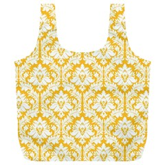 Sunny Yellow Damask Pattern Full Print Recycle Bag (xl)