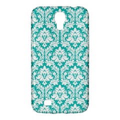 White On Turquoise Damask Samsung Galaxy Mega 6 3  I9200 Hardshell Case by Zandiepants