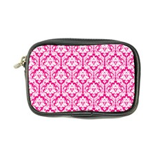Hot Pink Damask Pattern Coin Purse