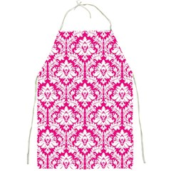 Hot Pink Damask Pattern Full Print Apron by Zandiepants
