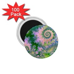 Rose Apple Green Dreams, Abstract Water Garden 1 75  Button Magnet (100 Pack) by DianeClancy
