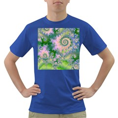 Rose Apple Green Dreams, Abstract Water Garden Men s T Shirt (colored) by DianeClancy