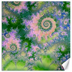 Rose Apple Green Dreams, Abstract Water Garden Canvas 12  X 12  (unframed) by DianeClancy