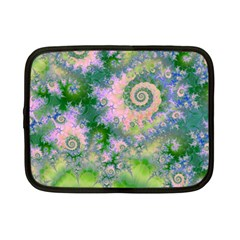 Rose Apple Green Dreams, Abstract Water Garden Netbook Sleeve (small) by DianeClancy