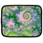Rose Apple Green Dreams, Abstract Water Garden Netbook Sleeve (XXL) Front