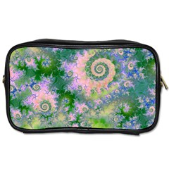 Rose Apple Green Dreams, Abstract Water Garden Travel Toiletry Bag (one Side) by DianeClancy