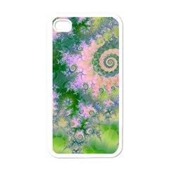 Rose Apple Green Dreams, Abstract Water Garden Apple Iphone 4 Case (white) by DianeClancy