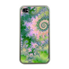 Rose Apple Green Dreams, Abstract Water Garden Apple Iphone 4 Case (clear) by DianeClancy