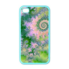 Rose Apple Green Dreams, Abstract Water Garden Apple Iphone 4 Case (color) by DianeClancy