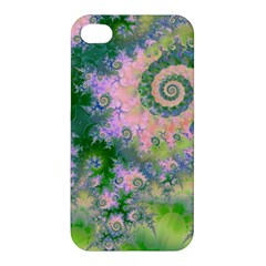 Rose Apple Green Dreams, Abstract Water Garden Apple Iphone 4/4s Premium Hardshell Case by DianeClancy