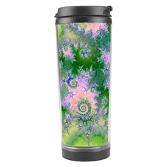 Rose Apple Green Dreams, Abstract Water Garden Travel Tumbler by DianeClancy