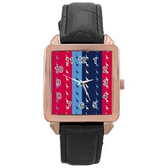 Giraffentapete Rose Gold Leather Watch