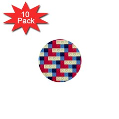 Hearts 1  Mini Button (10 Pack) by Siebenhuehner