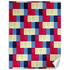 Hearts Canvas 12  X 16  (unframed) by Siebenhuehner