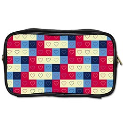 Hearts Travel Toiletry Bag (two Sides) by Siebenhuehner