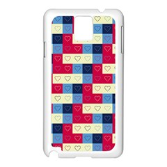 Hearts Samsung Galaxy Note 3 N9005 Case (white) by Siebenhuehner