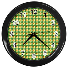 Retro Wall Clock (black) by Siebenhuehner