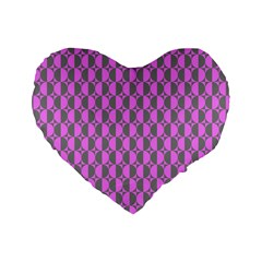 Retro 16  Premium Heart Shape Cushion  by Siebenhuehner