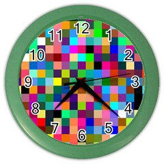 Tapete4 Wall Clock (color) by Siebenhuehner
