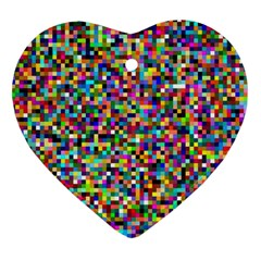 Color Heart Ornament (two Sides) by Siebenhuehner
