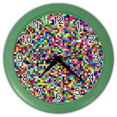 Color Wall Clock (color) by Siebenhuehner