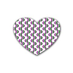 Retro Drink Coasters 4 Pack (heart)  by Siebenhuehner
