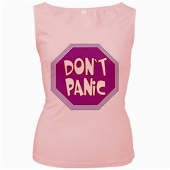 Purple Don t Panic Sign Women s Tank Top (pink) by FunWithFibro