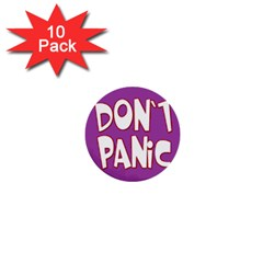Purple Don t Panic Sign 1  Mini Button (10 Pack) by FunWithFibro