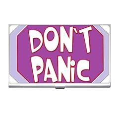 Purple Don t Panic Sign Business Card Holder by FunWithFibro