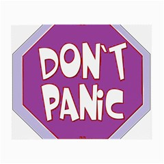 Purple Don t Panic Sign Glasses Cloth (small, Two Sided) by FunWithFibro