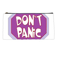 Purple Don t Panic Sign Pencil Case by FunWithFibro