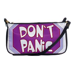Purple Don t Panic Sign Evening Bag by FunWithFibro