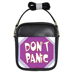 Purple Don t Panic Sign Girl s Sling Bag by FunWithFibro