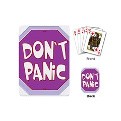 Purple Don t Panic Sign Playing Cards (mini) by FunWithFibro