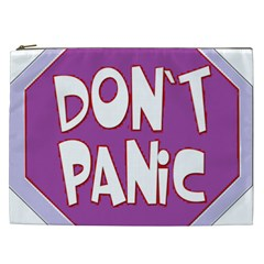 Purple Don t Panic Sign Cosmetic Bag (xxl) by FunWithFibro