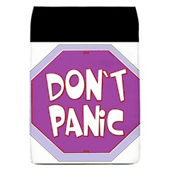 Purple Don t Panic Sign Removable Flap Cover (large) by FunWithFibro