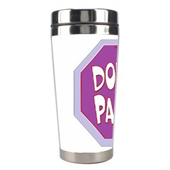 Purple Don t Panic Sign Stainless Steel Travel Tumbler by FunWithFibro
