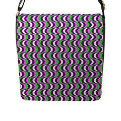 Pattern Flap Closure Messenger Bag (large)