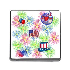Patriot Fireworks Memory Card Reader With Storage (square) by StuffOrSomething