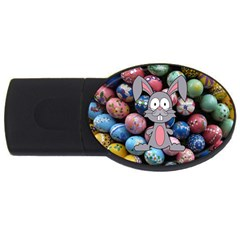 Easter Egg Bunny Treasure 4gb Usb Flash Drive (oval) by StuffOrSomething