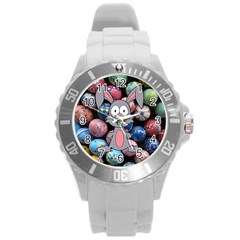 Easter Egg Bunny Treasure Plastic Sport Watch (large) by StuffOrSomething