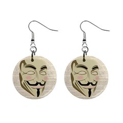 We The Anonymous People Mini Button Earrings by StuffOrSomething