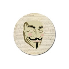 We The Anonymous People Magnet 3  (round) by StuffOrSomething