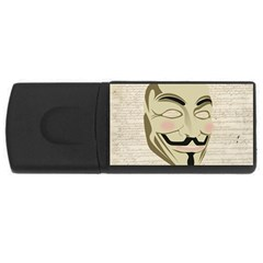 We The Anonymous People 4gb Usb Flash Drive (rectangle) by StuffOrSomething