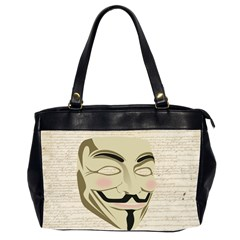 We The Anonymous People Oversize Office Handbag (two Sides)