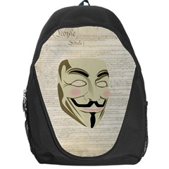 We The Anonymous People Backpack Bag by StuffOrSomething
