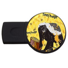 Honeybadgersnack 4gb Usb Flash Drive (round) by BlueVelvetDesigns