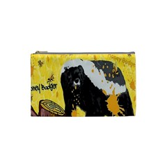 Honeybadgersnack Cosmetic Bag (small) by BlueVelvetDesigns