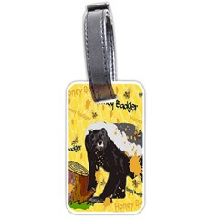 Honeybadgersnack Luggage Tag (two Sides) by BlueVelvetDesigns