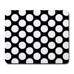 Black And White Polkadot Large Mouse Pad (rectangle) by Zandiepants